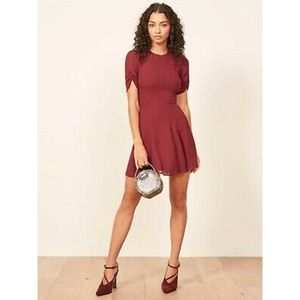 NWT Reformation Gracie Garnet Dress 2